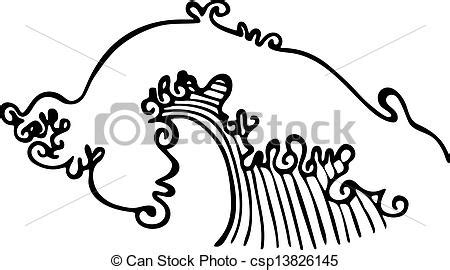 drawing a basic wave can be but after a while it can drawing of wave illustration simple black and