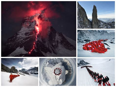 hundreds of mountaineers climb the alps for epic incredible photos with hundreds of mountaineers climbing