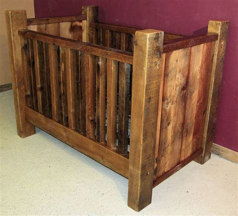 Rustic Style Crib Rustic Wood Baby Cribs Plans House Design And Decorating
