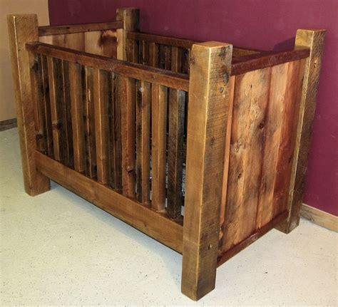 rustic baby crib plans rustic barn wood baby crib with thick posts barn wood