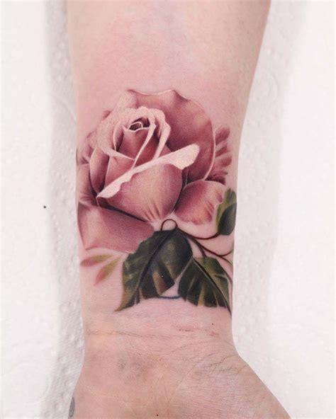 real rose tattoo 51 real pink tattoos tattoos pink
