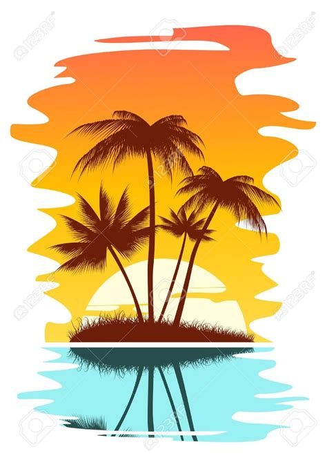 artwork clipart island sunset clipart clip of sunset clipart 4946