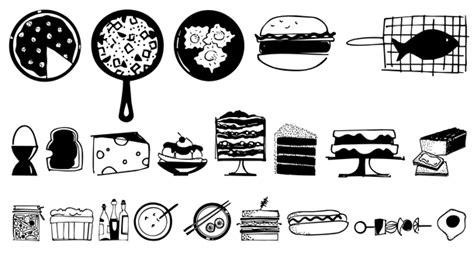 food doodle fonts food doodles font by outside the line font bros