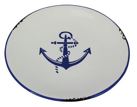 Emaille Geschirr Lackieren by Teller Anker Blau 20cm Keramik Emaille Look Geschirr
