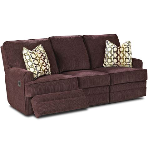 reclining pillow callahan casual reclining sofa with track arms and pillows