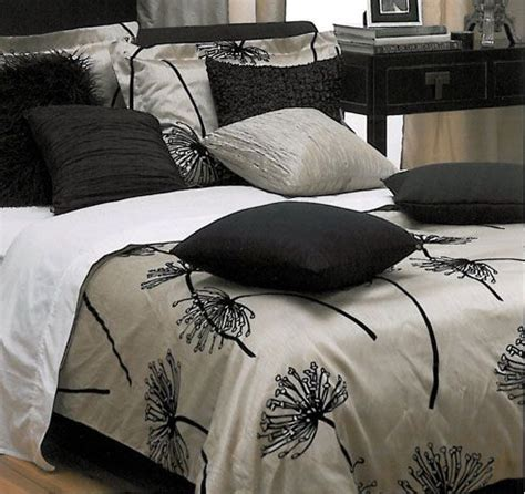 dandelion bedding this chagne black color combo dandelion by kouchini at bedding super store com