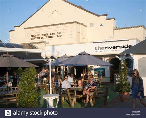 cineplex woodbridge people sitting outside the riverside cinema woodbridge