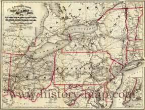 New York Pennsylvania Map by New York Pennsylvania Map
