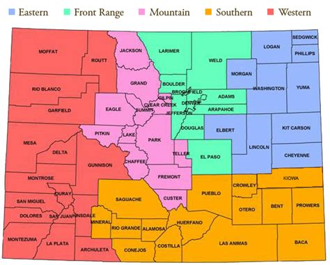 county map of colorado cci districts officers colorado counties inc cci