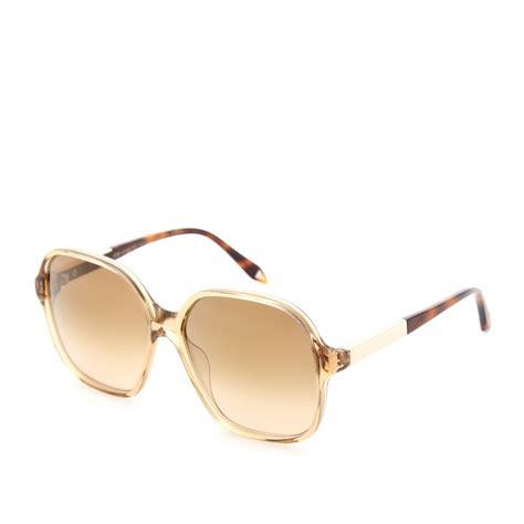 Bckham Sunglasses beckham feminine square sunglasses in gold topaz lyst