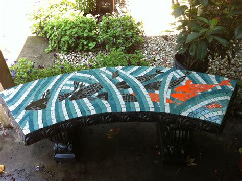 ceramic garden bench new ceramic tiled benches garden gate nursery