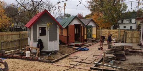 Tiny House Community For Homeless by Tiny Houses For Homeless Put Roofs Heads In