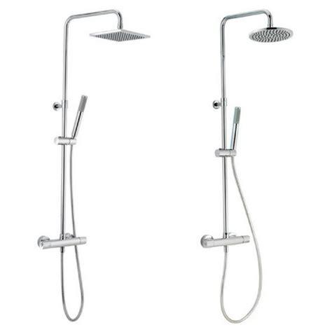 doccia in due colonna doccia saliscendi soffione doccetta in due diversi