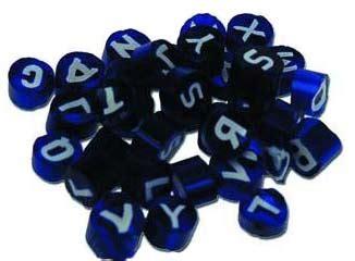 murrina lade comprar murrinas alfabeto azules 3 4mm 50gr arcilla de