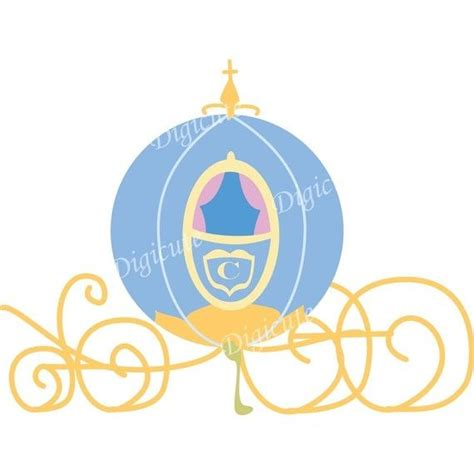 Cinderella Carriage Clipart disney princess cinderella s pumpkin carriage digital clip