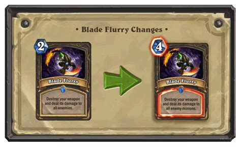 Hearthstone Gift Card Canada - card nerf blade flurry card discussion hearthstone general hearthpwn forums