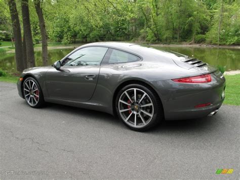 porsche gray grey metallic porsche carrera s coupe blackstone pictures