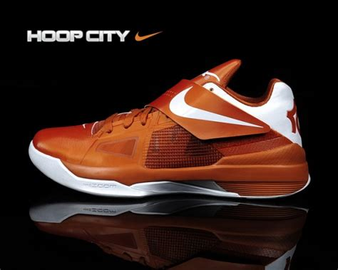 longhorns basketball shoes nike zoom kd iv longhorns new images sneakerfiles