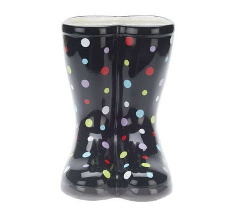11 inch indoor outdoor ceramic boot shaped planter by
