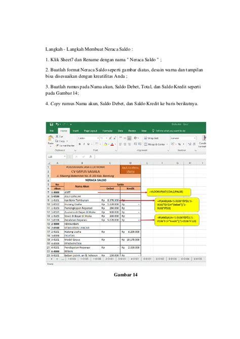 gambar format neraca saldo tugas automatisasi siklus akuntansi ms excel