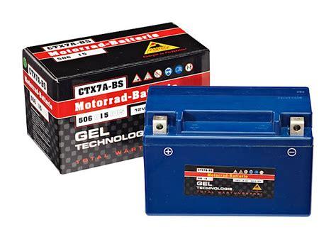 Motorrad Batterie Ctx7a Bs panther gel tech motorradbatterie ctx7a bs der batterieladen
