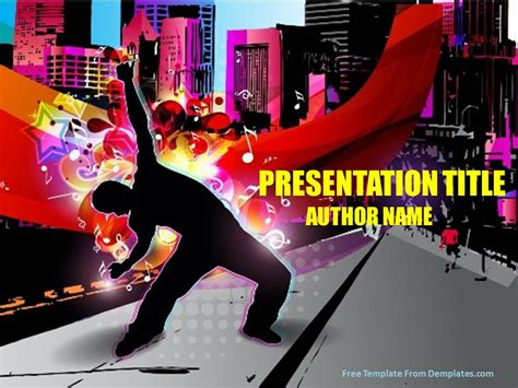 Youth Music Powerpoint Template Demplates Youth Powerpoint