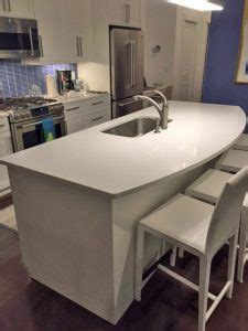 before & after: waterfall countertop metropolitan cabinets