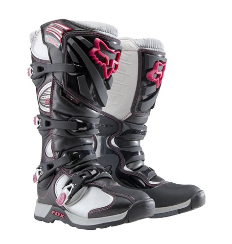womens motocross boots fox racing womens comp 5 boot black pink