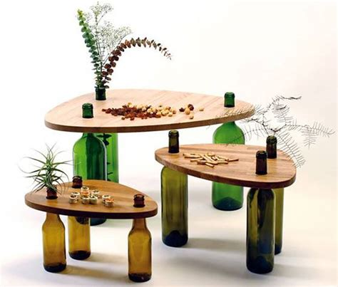 Eco Wine Furniture by Wine Bottles Get A Second As Chic Multifunctional