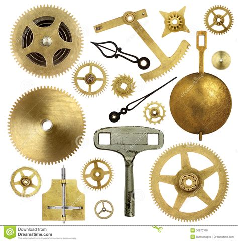 part of an old clock now a piece of art hmm vintage old clock parts stock photo image of technology