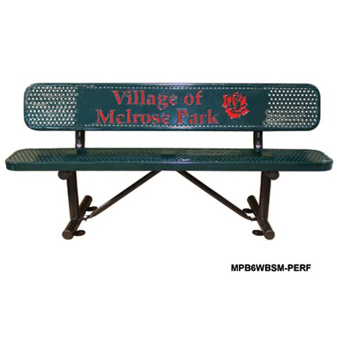 leisure craft benches leisure craft inc personalized multicolor perforated