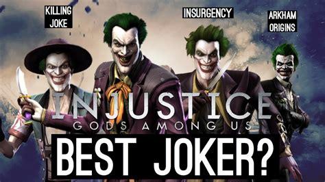 best joker best joker injustice gods among us