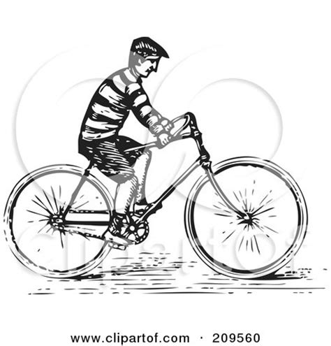 riding bicycle illustration