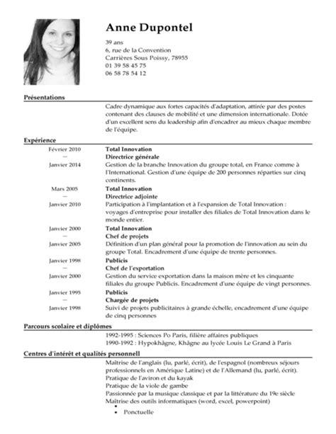 Mod Le De Lettre Un Directeur G N Ral cv directeur g 233 n 233 ral exemple cv directeur g 233 n 233 ral