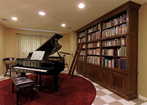 bethesda renovation piano room  library