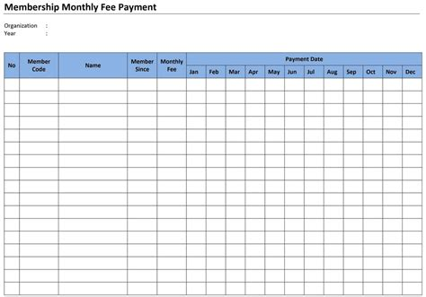 monthly bill payment calendar calendar template