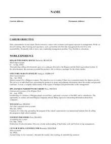 Career Objective Sle In Resume by Objective For Sales Associate Resume