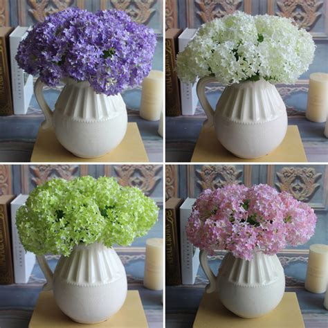 fake silk flower artificial hydrangea wedding party home