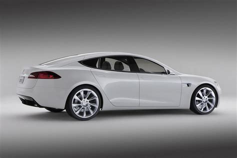 Electric Car Tesla New Tesla Model S Electric Car Revealed Official Details