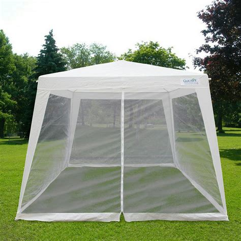 canopy tent with awning quictent 174 10x7 9 trapezoid canopy party tent gazebo screen