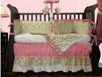 pink and green baby bedding pink and green damask print baby girl crib bedding set just me pinterest girl