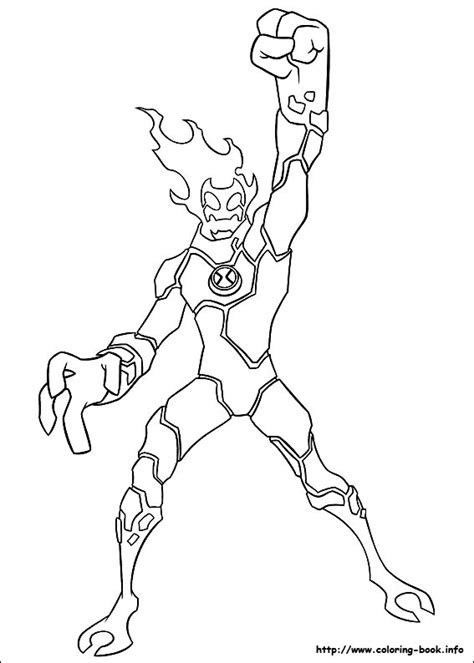 Ben 10 Coloring Pages Ben10fire Com Ben Ten Coloring Pages