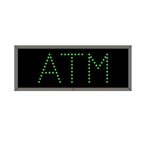 Sign Led Atm led atm sign green led atm drive up sign green led atm sign