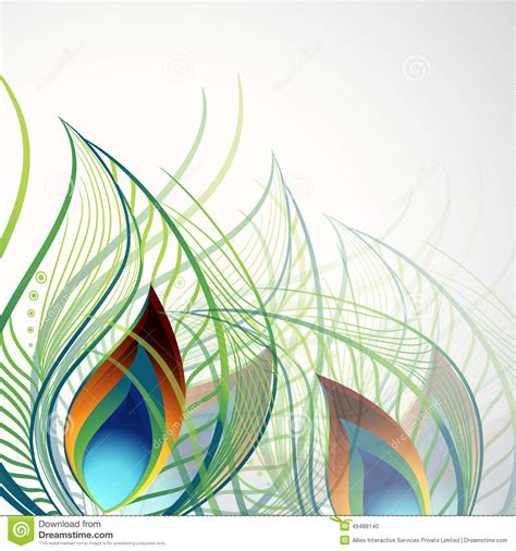 design concept background beautiful peacock feather concept stock illustration