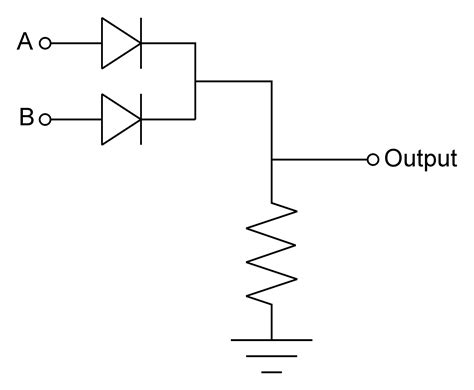 diode circuit for not gate 1 1 1
