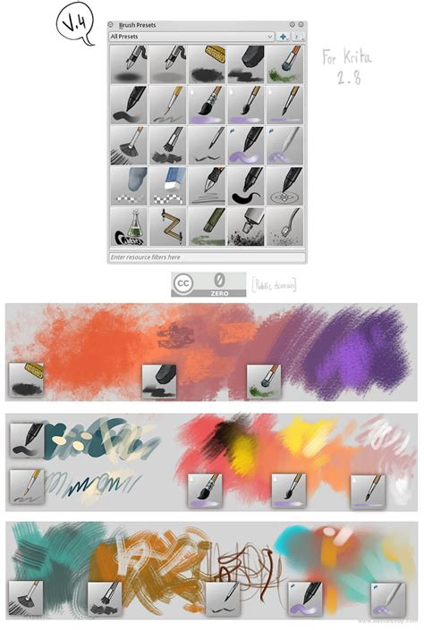 krita pattern brush krita brushes v4 by deevad on deviantart