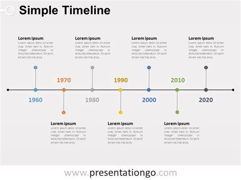 Simple Timeline Powerpoint Diagram Presentationgo Com Powerpoint Timeline Templates