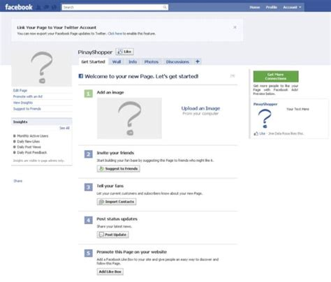 how to make a fan page pinayshopper how to create a facebook fan page