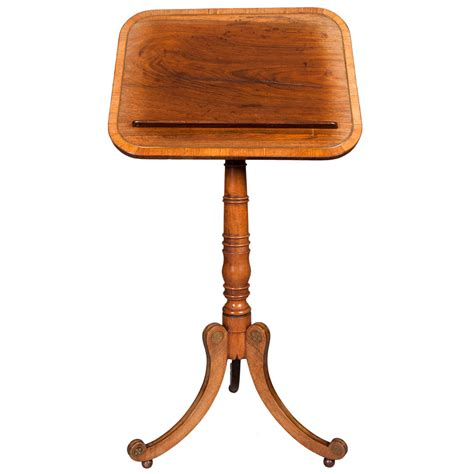 table top reading l regency rosewood reading table at 1stdibs