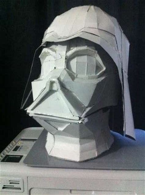 Darth Vader Mask Papercraft - oversized darth vader paper helmet of details